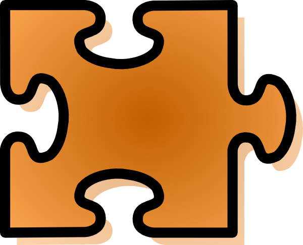 Jigsaw Puzzle Piece Clipart Orange Jigsaw Puzzle Piece