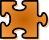 Orange Jigsaw Puzzle Piece Clip Art
