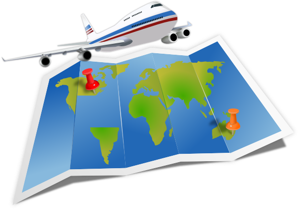 Airplane Travel Clip Art at Clker.com - vector clip art online ...