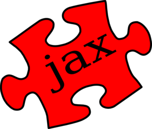 Red Jax Puzzle Piece Tilted Clip Art