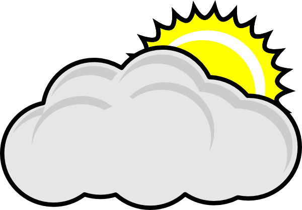 partly cloudy with sun clip art at clker com vector clip art rh clker com cloud clip art images cloud clip art images