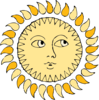 Sun With Face Clip Art