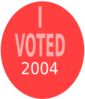 I Voted 2004 Clip Art
