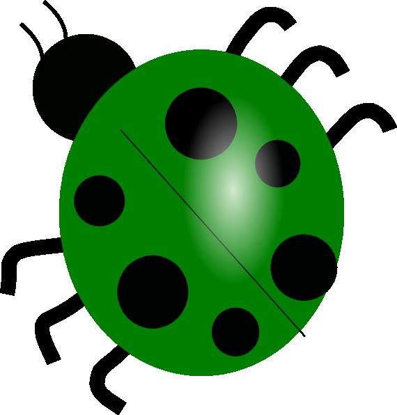 green ladybug clipart - photo #3