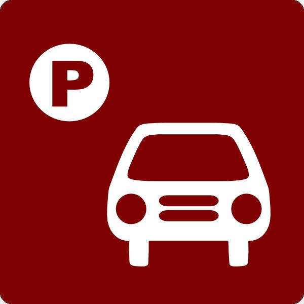 hotel icon has parking clip art red white clip art at clker com rh clker com  free car parking lot clipart