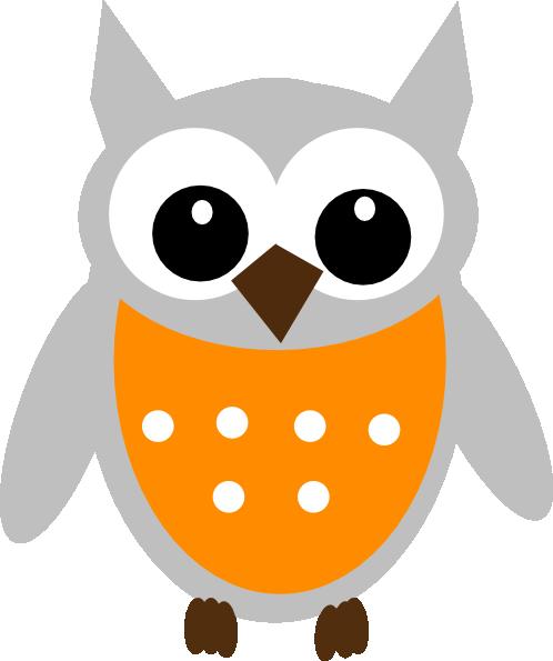 Orange Gray Owl Clip Art at Clker.com - vector clip art ...