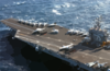 The Flight Deck Aboard Uss Harry S. Truman (cvn 75) Is Readied For Flight Operations Clip Art