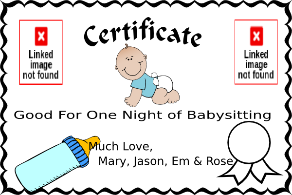 babysitting coupon clip art at clker com