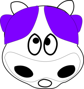 Purple Cow 2 Clip Art