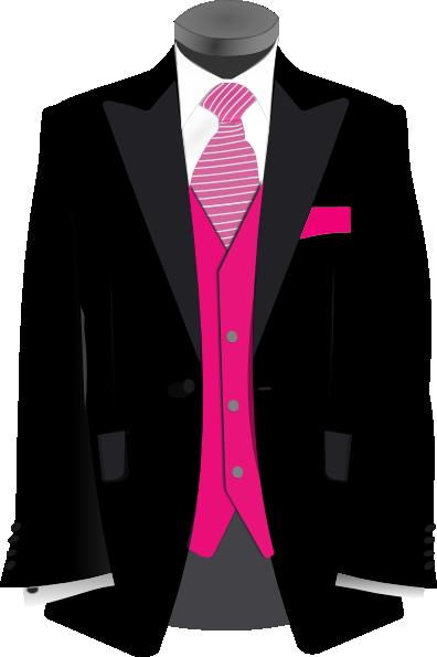 Pink Black Suit Clip Art at Clker.com - vector clip art online