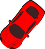 Red Car - Top View - 230 Clip Art