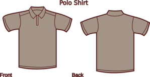 Gray Polo Shirt Front And Back Clip Art
