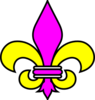 Purple And Gold Fleur De Lis Clip Art
