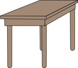 Students Working At Table Clipart
