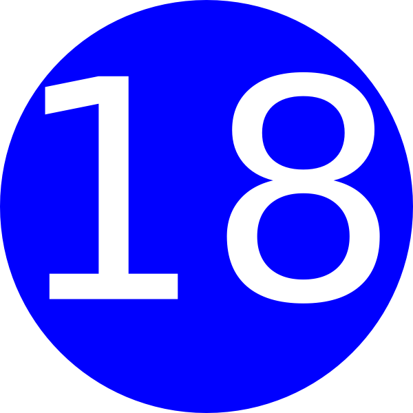 Number 18 Blue Background Clip Art at Clker.com - vector ...