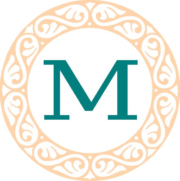 Monogram M Monogram m clip art - vector