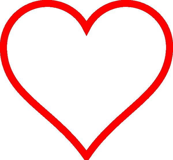 Red Heart Outline Clip Art at Clker.com - vector clip art ...
