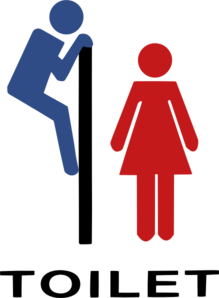 Man Woman Toilette Clip Art