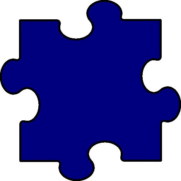 Dark Blue Puzzle Piece Clip Art at Clker.com - vector clip art online ...