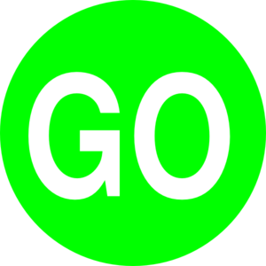Green Go Sign Clip Art