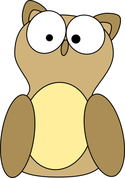 Owl clip art at vector clip art online for A cartoon owl
