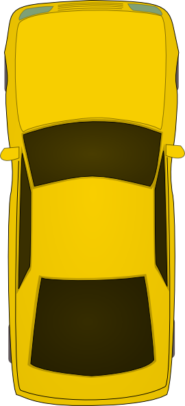 Top Of Yellow Car Clip Art at Clker.com - vector clip art ...