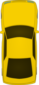 Top Of Yellow Car Clip Art