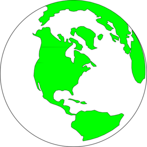 Earth With White And Green Clip Art