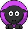 Sheep - Violet Purple Clip Art