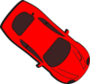 Red Car - Top View - 320 Clip Art