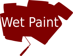 Wet Paint Clip Art