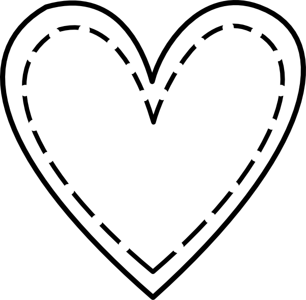 Line Art Heart Outline : Double heart outline clip art at clker vector