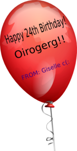 Baloongreg Bday 24th Clip Art