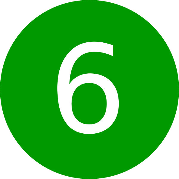 Number 6, Green, Round Clip Art at Clker.com - vector clip ...