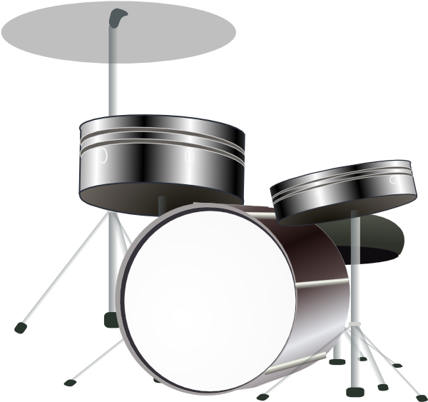 Clipart Drums B And W  on Math Vom