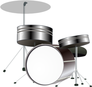 Drums (b And W) Clip Art
