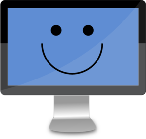 Happy Computer Screen Clip Art