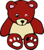 Cute Brown Teddy Clip Art