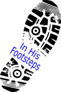 In His Footsteps Clip Art