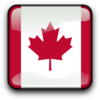 Glossy Canadian Flag Icon Clip Art