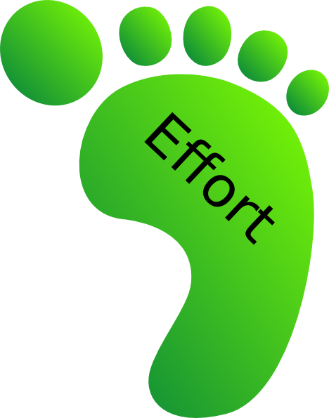 Green Feet Effort Clip Art at Clker.com - vector clip art online ...