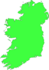 Outline Map Of Ireland Green Clip Art