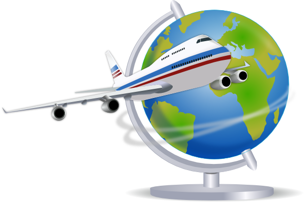 vacation airplane clip art-#9