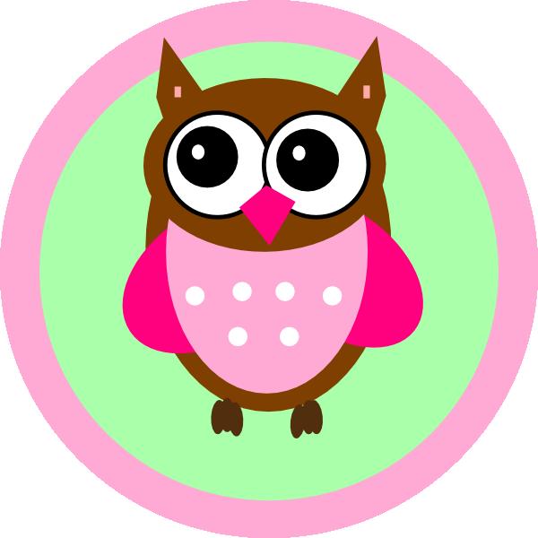 pink owl tag clip art at clker com vector clip art pink and grey owl clip art Baby Girl Owl Clip Art
