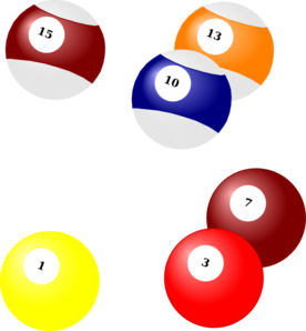 Billiard Balls Strata Sample Clip Art