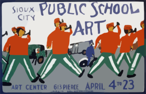Public School Art, Sioux City Art Center  / Made By Wpa Federal Art Project, Iowa. Clip Art