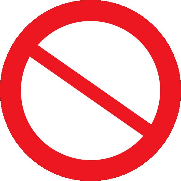 Do Not Enter Symbol Clip Art   www.pixshark.com - Images ...