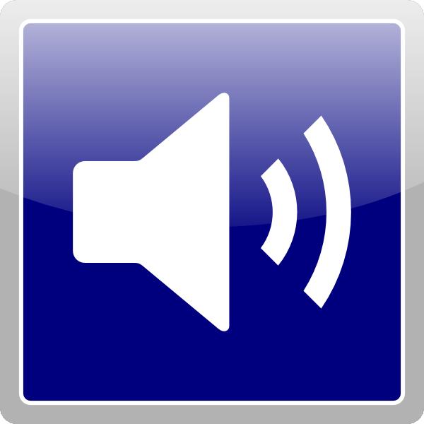 Blue Audio Icon Clip A...