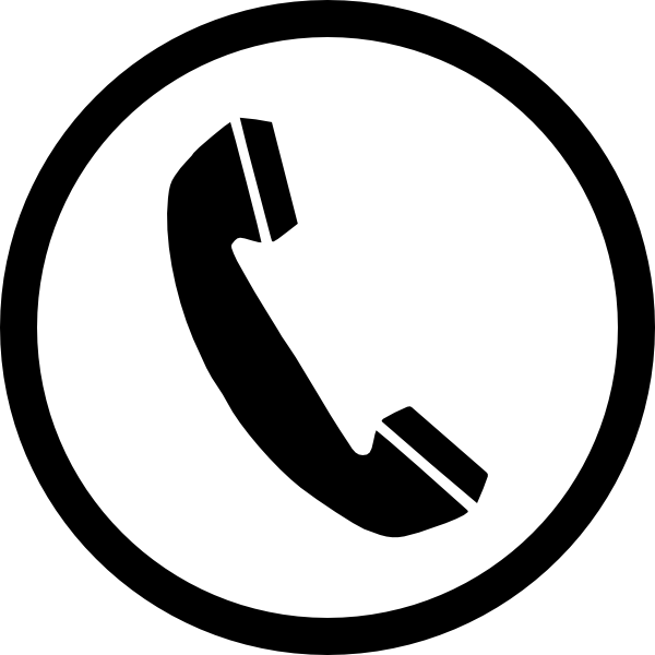 phone sign clip art at clker com