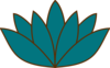 Lotus In Peacock Clip Art